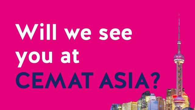 Meet us at CeMAT ASIA in Hall W1 Stand L2-2.